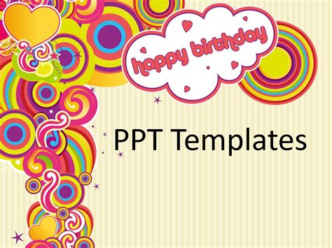 happy birthday template powerpoint 4 best images of free printable happy birthday templates