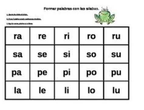 las silabas en espanol para ninos 1000 images about spanish bilingual education on