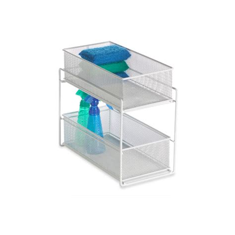 white 2 drawer mesh organizer the container store