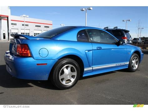2000 blue mustang 2000 bright atlantic blue metallic ford mustang v6 coupe