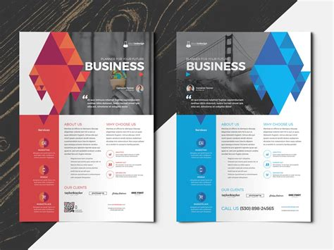design flyer with indesign flyer multipurpose 2 in 1 stockindesign