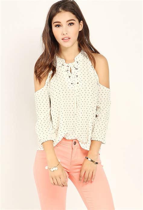 Shoulder Lace Up Lace Top lace up open shoulder top shop tops at papaya clothing