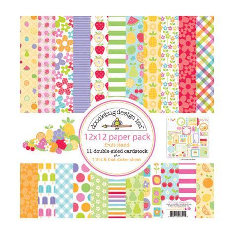 doodlebug paper packs doodlebug fruit stand 12 x 12 paper pack