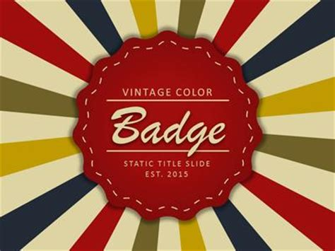 Vintage Color Badge A Powerpoint Template From Presentermedia Com Microsoft Powerpoint Templates Vintage