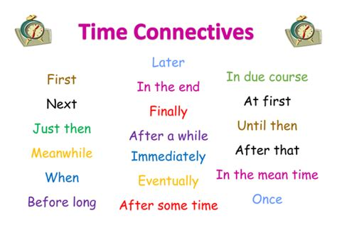 Time Connectives Word Mat re connectives mat in word by winnietpooh teaching resources tes