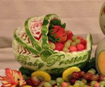 Watermelon Carving Baby Shower by Watermelon Baby Carriage Fancy Variations On Nita S