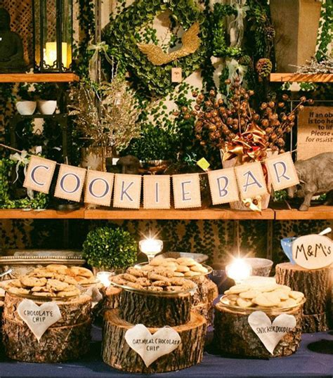 fall country wedding cookie bar ideas tulleandchantilly com