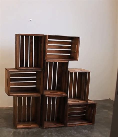 diy wooden crate shelves diy ready