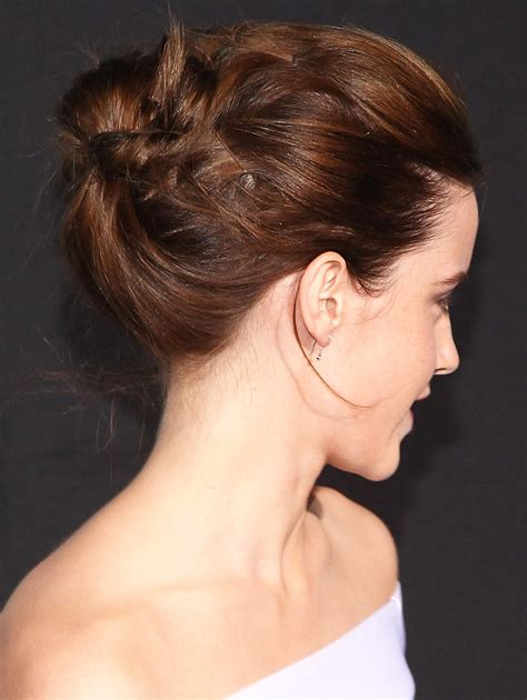 casual updo hairstyles front n back from the back you can see that emma s hair was twisted