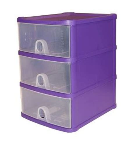 3 Drawer Plastic Storage Unit 1 4l Premier 3 Drawer Plastic Storage Tower Clear Purple