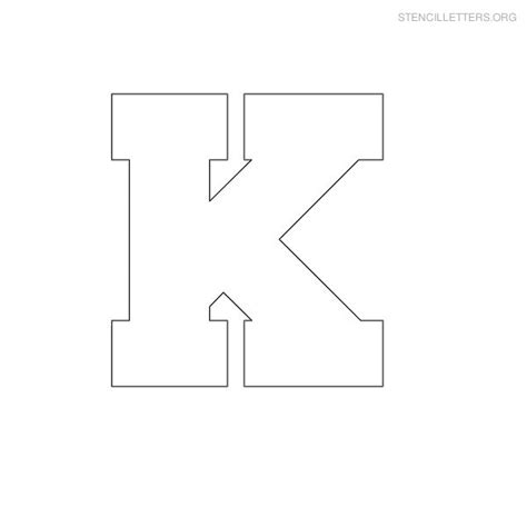 4 best images of printable letter k template large size