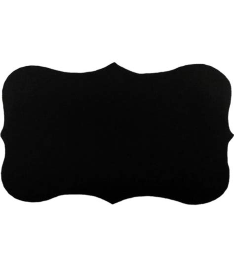 Tag Clear Black by Allydrew Fancy Rectangle Black Vinyl Plastic Chalkboard