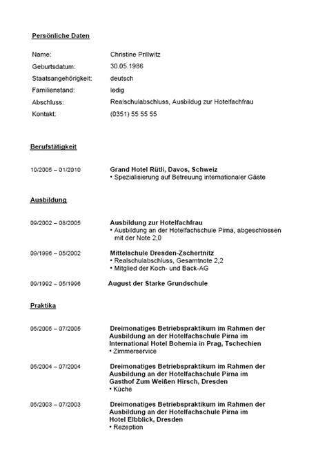 Lebenslauf Muster Hotelfachfrau Bewerbungs Paket Hotelfachmann Muster Zum