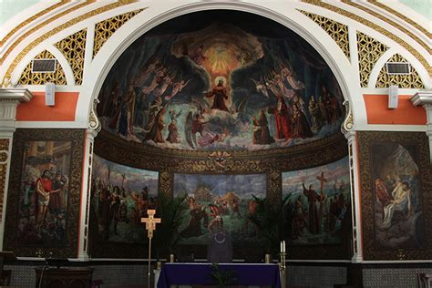christian wall murals murals line church s walls display religious history the baylor lariat