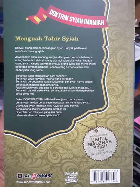 Doktrin Syiah Imamiah buku doktrin syiah imamiah mengungkap ajaran syiah toko