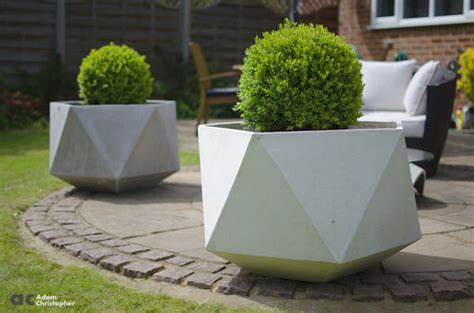 Large Concrete Planter by Large Origami Concrete Planters 1001 Gardens