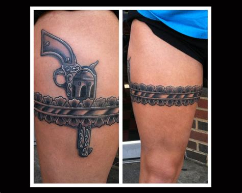 gun tattoos on thigh collection of 25 gun holster thigh for