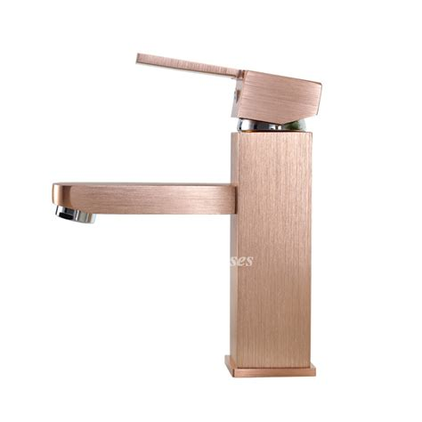 cool bathroom faucets single handle champagne gold solid 1