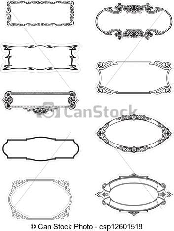 decorative borders for name tags name frame clipart clipground