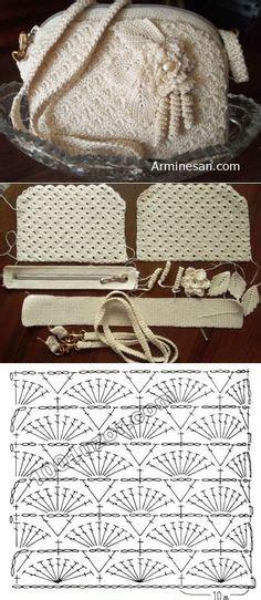 tutorial clutch rajut вязаные сумки bags crochet and posts