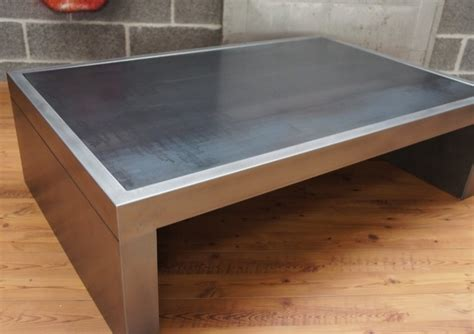 table basse industrielle   table metal  Table basse design