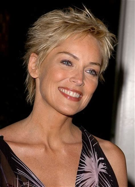 sharon stone short hair on round face sharon stone hairstyles hottest celebrity hairstyles