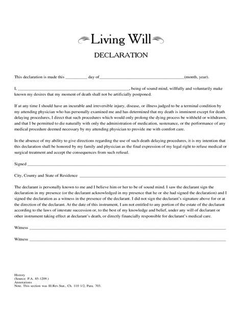 Create A Free Living Will Form Legaltemplates Living Will Declaration Free