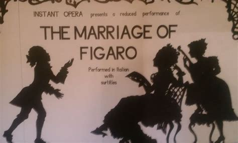 Lower Years Studying the Marriage of Figaro