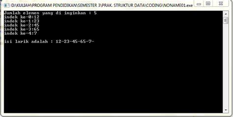 isi for array c menampilkan isi elemen array dimensi satu gatewan