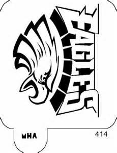 mr hair art stencil philadelphia eagles logo