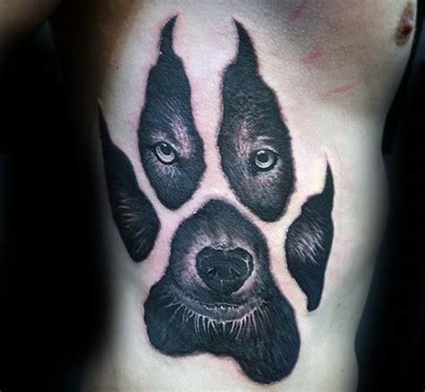 wolf paw tattoo 50 wolf paw designs for animal ink ideas