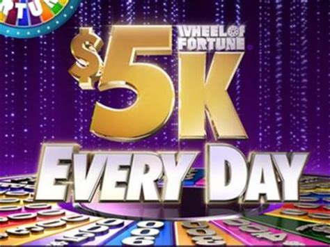 Wheel Of Fortune 5k Sweepstakes - wheeloffortune com fivek every day enter today and win 5000 from the wheel of fortune