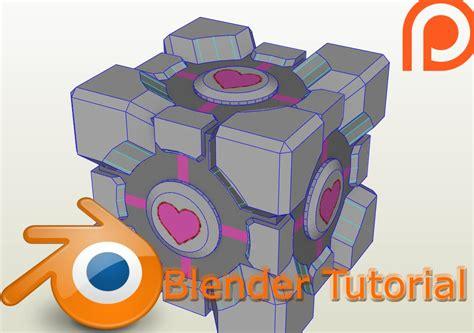 Blender Papercraft - blender texture tutorial weighted companion cube