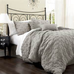 lush decor lake como 4 comforter set gray