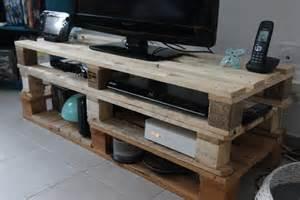 fabrication meuble tv palette artzein