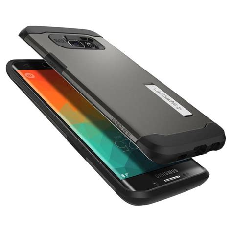 Spigen Samsung Galaxy S6 S6 Edge spigen slim armor skal till samsung galaxy s6 edge plus gunmetal themobilestore