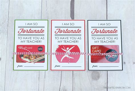 Gift Cards You Can Print - teacher appreciation printables