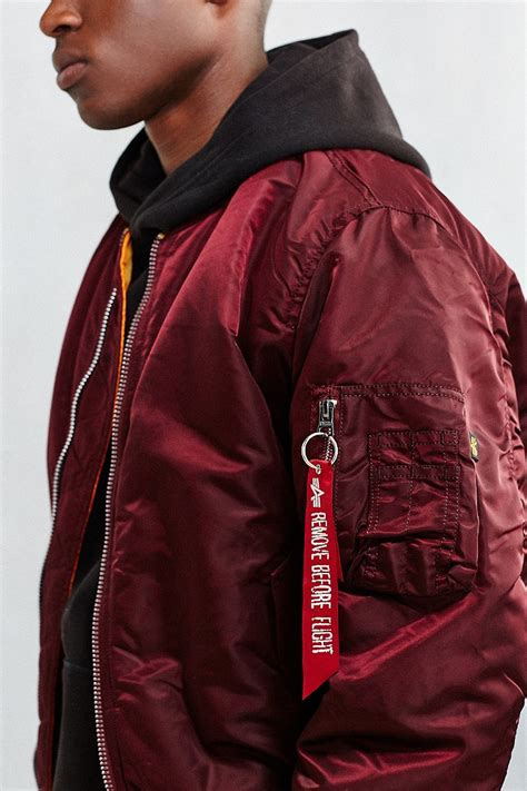 Jaket Bomber Polos Maroon Bomber Jaket lyst alpha industries classic fit ma 1 bomber jacket in for