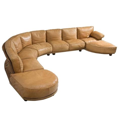 cognac leather sectional claudio salocchi large sectional sofa in cognac leather