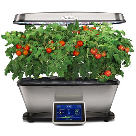 Countertop Herb Garden Kit by Aerogarden Bounty Elite With Gourmet Herb Seed Pod Kit Stainless Garden Outdoor