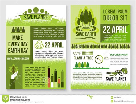 conservation through green building design earth habitat save nature and earth protection vector templates stock