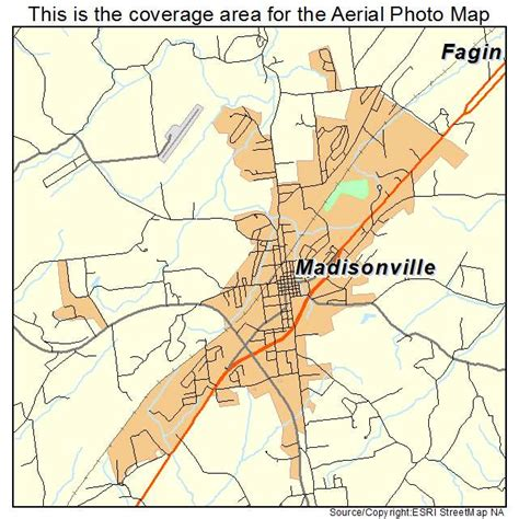 madisonville map aerial photography map of madisonville tn tennessee