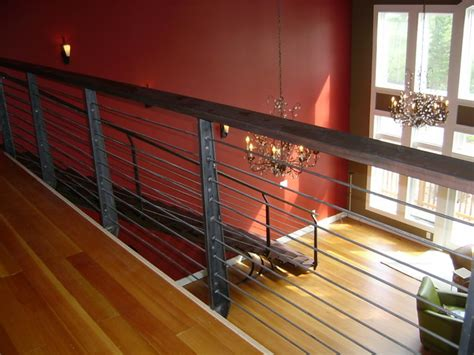 horizontal metal railing iron horizontal railings contemporary staircase
