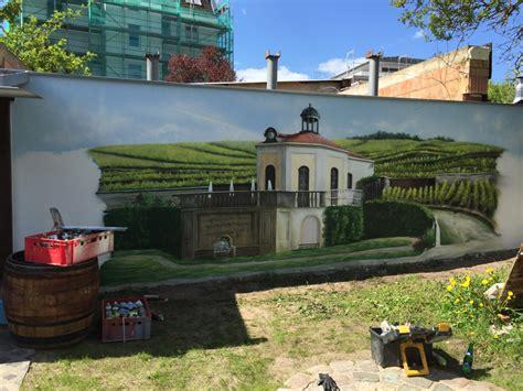 illusionsmalerei preise wandmalerei mediterran landschaft graffiti k 252 nstler und