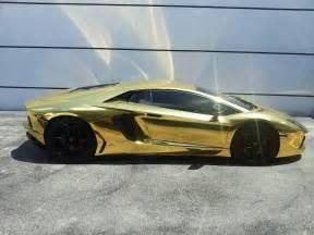 A Gold Lamborghini Gold Lamborghini Cars