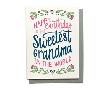 printable birthday cards for grandma grandma birthday card sweetest grandma in the world