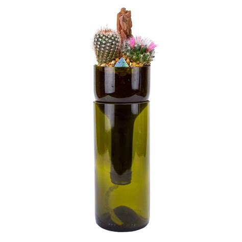 Self Watering Planter Wine Bottle by Deco Wine Wine Bottle Self Watering Cactus Planter Deco Wine The Home Depot