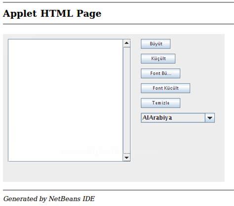 java layout kullanimi java applet temelleri java applet jtextarea nesnesi ve