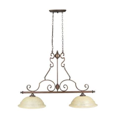 Home Depot Kitchen Ceiling Lights Home Decorators Collection Fairview 2 Light Heritage Bronze Ceiling Kitchen Island Light 14703