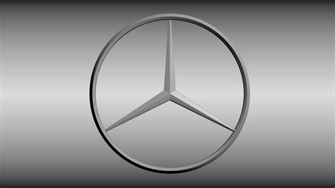 logo mercedes benz 3d mercedes logo 3d model obj blend cgtrader com